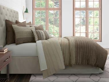 AICO Furniture Lincoln Park Toast Seven-Piece Queen Duvet Set AICBCSQD07LNPRKTST