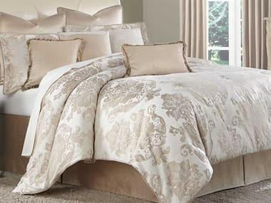 AICO Furniture Marbella Creme Nine-Piece Queen Comforter Set AICBCSQS09MRBEACRM