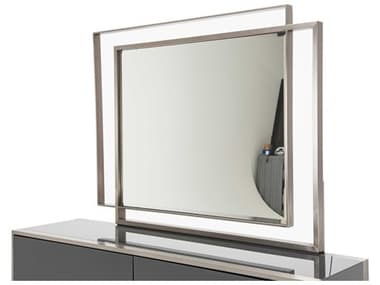 Aico Furniture Michael Amini Metro Lights Black Nickel 56''W x 43''H Rectangular Dresser Mirror AIC9010260809