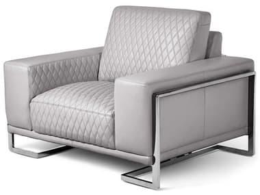 AICO Furniture Mia Bella Stainless Steel Chair and a Half AICMBGIANN38LGR13
