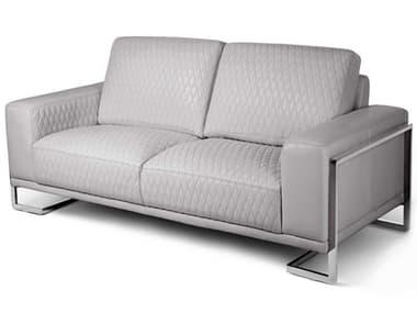 AICO Furniture Mia Bella Stainless Steel Loveseat Sofa AICMBGIANN25LGR13