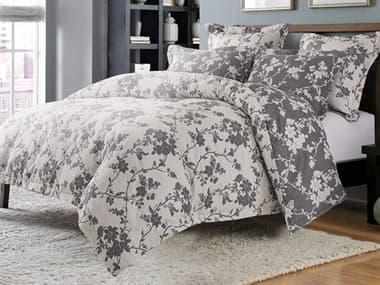 AICO Furniture Mika Dove Five-Piece Queen Duvet Set AICBCSQD05MIKADOV