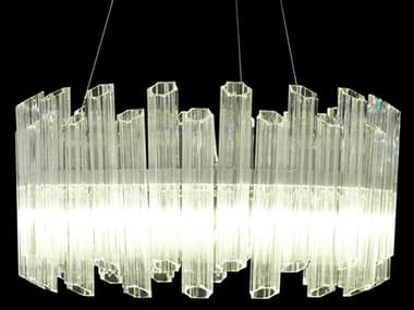 AICO Furniture Octavious Clear 8-light 31'' Wide Glass LED Pendant AICLTCH9628CLR