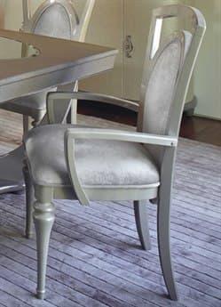 Aico Furniture Michael Amini Overture Champagne Dining Arm Chair AIC08004RN10