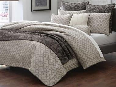 AICO Furniture Paragon Taupe Nine-Piece Queen Comforter Set AICBCSQS09PRAGNTAUP