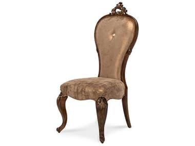 Aico Furniture Michael Amini Platine De Royale Light Espresso Dining Side Chair AIC09003229