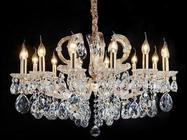 AICO Furniture Portola Clear 14-light 32'' Wide Crystal Glass Medium Chandelier AICLTCH99414CLR