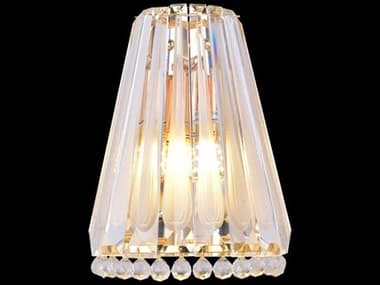 AICO Furniture Quill Clear 2-light Glass Wall Sconce AICLTWL0072CLR