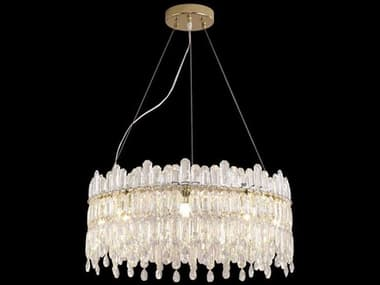 AICO Furniture Royal Crown Clear 9-light 23'' Wide Medium Chandelier AICLTCH9889CLR