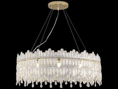 AICO Furniture Royal Crown Clear 12-light 31'' Wide Medium Chandelier AICLTCH98912CLR