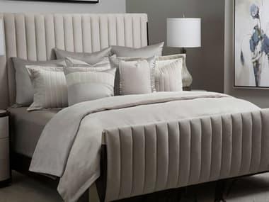 AICO Furniture Skylar Champagne Nine-Piece Queen Comforter Set AICBCSQS09SKYLRCMP