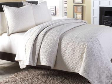 AICO Furniture Taylor Linen Three-Piece Queen Coverlet/Duvet Set AICBCSQD03TAYLORLIN