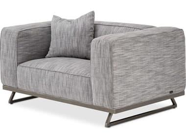 AICO Furniture Tempo Graphite / Black Nickel Chair and a Half AICTRTEMPO38GPH804