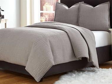 AICO Furniture Trent Gray Three-Piece Queen Coverlet/Duvet Set AICBCSQD03TRENTGRY
