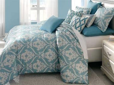AICO Furniture Tucson Turquoise Nine-Piece Queen Comforter Set AICBCSQS09TUCSONTUR