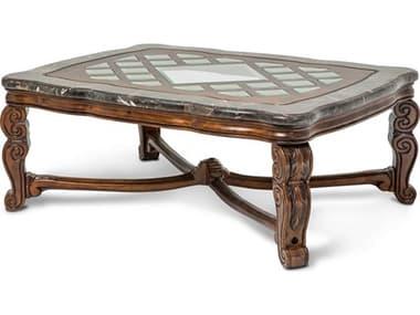Aico Furniture Michael Amini Tuscano Melange 54''W x 41''D Rectangular Cocktail Table AIC3420134