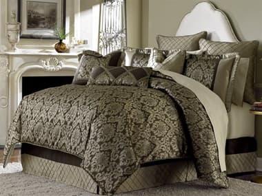Aico Furniture Michael Amini Victoria Palace Imperial Bronze Nine-Piece Queen Comforter Set AICBCSQS09IMPERLBRZ