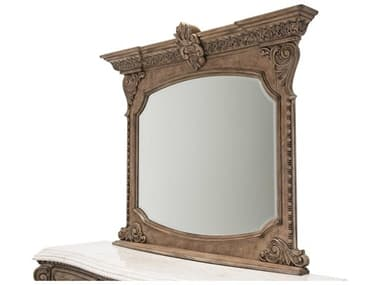 Aico Furniture Michael Amini Villa Di Como Heritage 63''W x 38''H Rectangular Dresser Mirror AIC9053060207