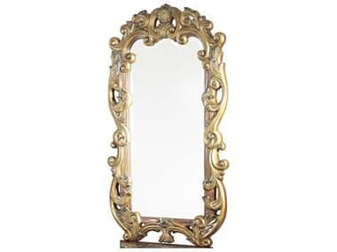 Aico Furniture Michael Amini Villa Valencia Classic Chestnut 33''W x 57''H Rectangular Wall Mirror AIC7204155