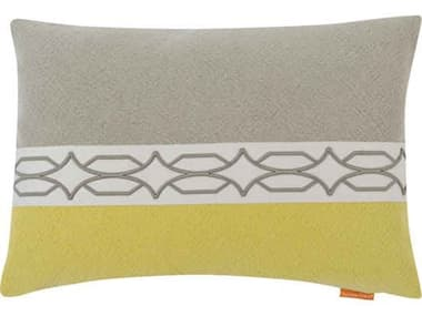 Aidan Gray Diamond No-12 Cream / Green 20'' x 14'' Rectangular Pillow AIDPL14DIANO12