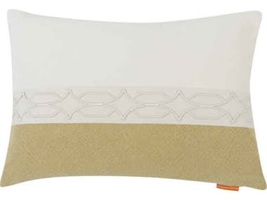 Aidan Gray Diamond No-2 White / Green 20'' x 14'' Rectangular Pillow AIDPL14DIANO2