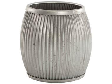 Aidan Gray Galvanized Natural Metal Planter AIDG85