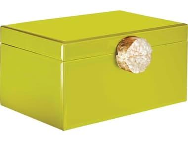 Aidan Gray Chartreuse Small Samantha Jewelry Box AIDD610