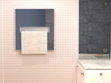 Amba Elory Polished Stainless 28''W x 30''H Heated Towel Rack AMBE2830P