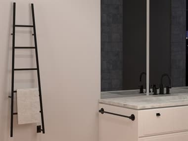 Amba Jeeves Matte Black A-Ladder Heated Towel Rack AMBASMB