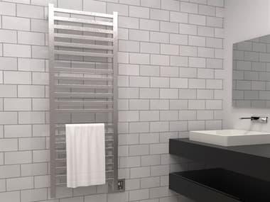 Amba Quadro Brushed Stainless 24''W x 57''H Heated Towel Rack AMBQ2054B