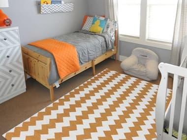 Amer Rugs Zara Orange / Ivory Rectangular Area Rug ARZAR21