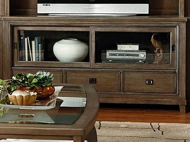 American Drew Park Studio Weathered Taupe with Gray Wash 66''L x 19''W Entertainment Console AD488585