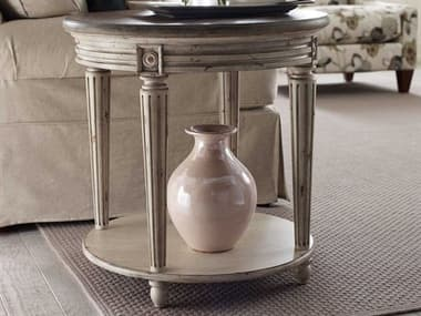 American Drew Southbury Fossil Top / Parchment Base 26'' x 26'' Round End Table AD513916