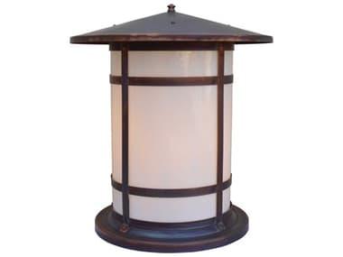 Arroyo Craftsman Berkeley 1-light Glass Outdoor Column Mount AYBC17L