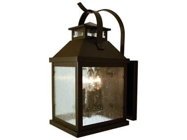 Arroyo Craftsman Canterbury 3-light Glass Outdoor Wall Light AYCAB7
