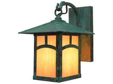 Arroyo Craftsman Evergreen 1-light Glass Outdoor Wall Light AYEB7