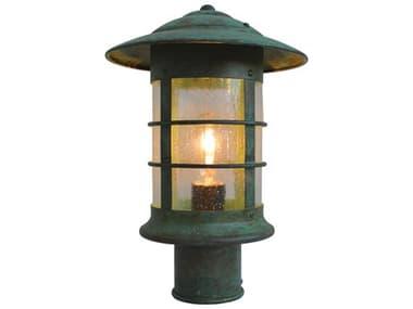 Arroyo Craftsman Newport 1-light Glass Outdoor Post Light AYNP9