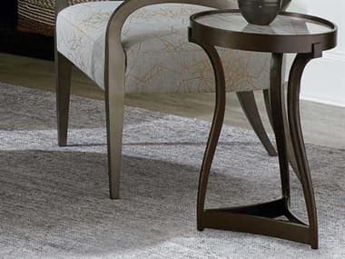 A.R.T Furniture Geode Quartz & Tumbled Bronze 17'' Wide Round End Table AT2383690027