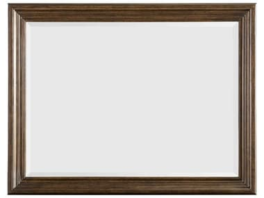 A.R.T. Furniture Kingsport Medium Oak 48''W x 37''H Rectangular Wall Mirror AT2801202603
