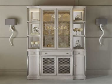 A.R.T. Furniture La Scala Ivory & Nickel China Cabinet AT2572403146
