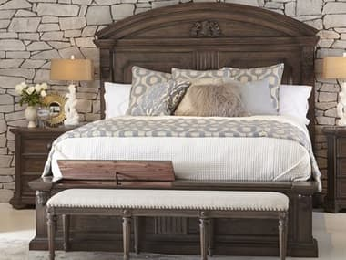 A.R.T. Furniture Vintage Salvage Walnut King Panel Bed AT2311562812