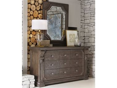 A.R.T. Furniture Vintage Salvage Triple Dresser with Wall Mirror AT2311312812SET