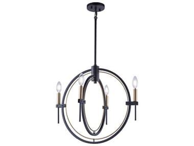 Artcraft Lighting Anglesey Matte Black / Harvest Brass 21'' Wide Mini Chandelier ACAC11454