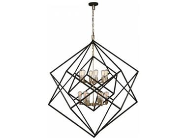 Artcraft Lighting Artistry Matte Black & Satin Brass 12-Light 47'' Wide Grand Chandelier ACAC11112