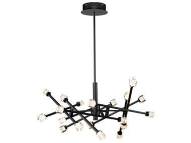 Artcraft Lighting Batton Black 19-Light 29'' Wide LED Pendant ACAC6641BK