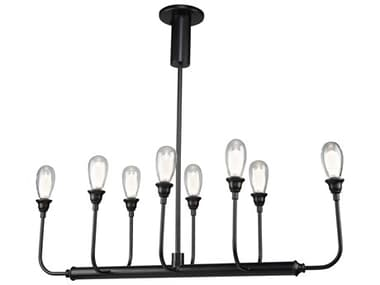 Artcraft Lighting Bimini Black Eight-Light 44'' Wide LED Island Light ACAC7658BK