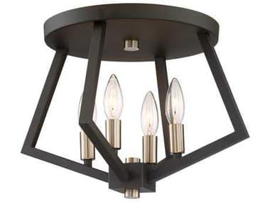 Artcraft Lighting Breezy Point Bronze Four-Light 16'' Wide Flush Mount Light ACAC10683BZ