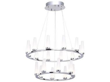 Artcraft Lighting Briar Chrome 20-Light 24'' Wide LED Mini Chandelier ACAC7514