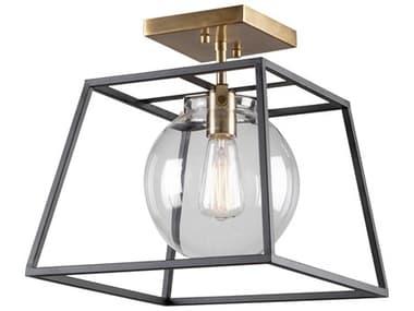 Artcraft Lighting Bridgetown Black / Harvest Brass One-Light 10'' Wide LED Semi-Flush Mount ACAC11600VB