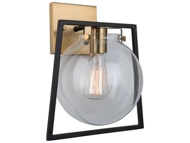 Artcraft Lighting Bridgetown Black / Harvest Brass One-Light LED Wall Sconce ACAC11602VB